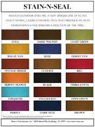 color charts and brochures