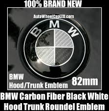black and white bmw roundel bmw e60 carbon fiber black white trunk emblem m5 550i 545i