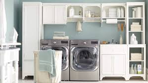 Storage Ideas For Small Bathrooms With No Cabinets by 12 Essential Laundry Room Organizing Ideas Martha Stewart