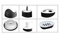 Plastic Bathroom Tumbler Piece Plastic Bath Accessory Bathroom Set Yifan Lotion Dispenser