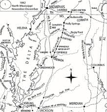 Jackson Ms Map The Mississippi Central Railroad Campaign