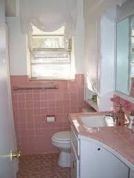 retro pink bathroom ideas bathroom redo grouted peel and stick floor tiles wire basket