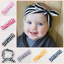 baby hair bows wide knot headbands baby girl headwraps bandeau cheveux striped