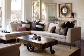 L Shaped Room Ideas Unique Wheeled Wooden Coffee Table For Charming Living Room Ideas