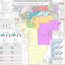 Geneva Illinois Map by District 308 Releases Drafts Of Boundary Maps Oswego Il Patch