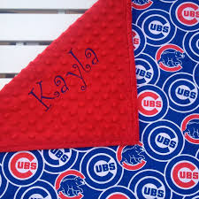 Chicago Cubs Crib Bedding Chicago Cubs Baby Blankets Cubs Baby Blankets Personalized Baby