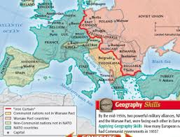 the iron curtain map