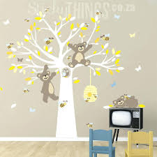 wall ideas childrens wall art stickers australia childrens childrens art wall decal childrens bedroom wall stickers removable childrens wall art stickers this bears and the bees tree wall art is a large tree with