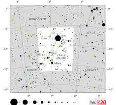 Star Maps Los Angeles by Canis Major Facts Myth Star Map Major Stars Deep Sky Objects