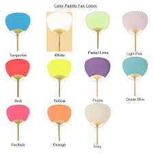 paddle fans color paddle fan set of 10 palm and bamboo fans wedding