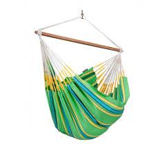hamac siege suspendu chaise hamac lounger colombienne currambera vert la siesta