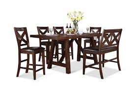 Colonial Dining Room Chairs Colonial Gathering Table And 4 Counterstools Hom Furniture