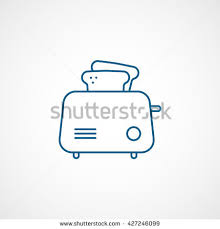 Maple Leafs Toaster Toaster Blue Icon On White Background Stock Vector 427245910