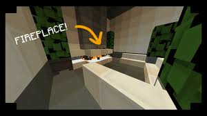 minecraft how to build a modern fireplace youtube