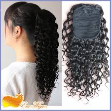 100 human hair extensions curly hair ponytail hairpiece 100 human hair