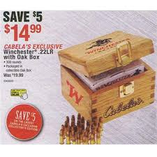 cabelas black friday sale winchester 22 lr with oak box 14 99 cabela u0027s black friday 2012