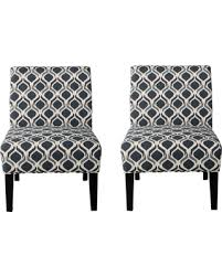 Accent Chair Set Of 2 Amazing Deal On Kendal Blue Navy Fabric Accent Chair Set Of 2