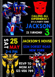transformer birthday transformer birthday invitations transformer birthday party