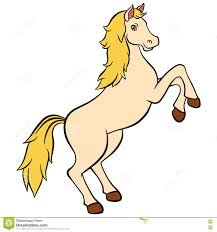 cartoon farm animals for kids cute beautiful horse smiles stock