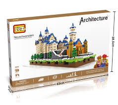 loz diamond blocks loz diamond blocks neuschwanstein with led diy building toys swan