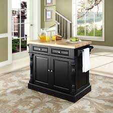 Kitchen Island Com by Amazon Com Crosley Furniture Kitchen Island With Butcher Block