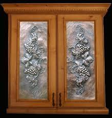 metal cabinet door inserts art metal panels from artful inserts the cabinet door panels