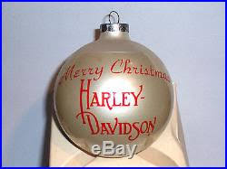 harley davidson 1982 issue glass bulb ornament