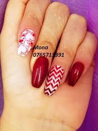 ballerina shape and konad stamping nail art nail art by mona p