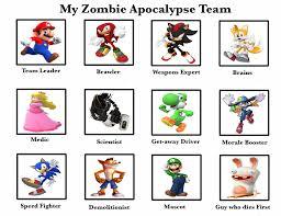 Meme Video Games - my zombie apocalypse team meme video games by claire petal splash