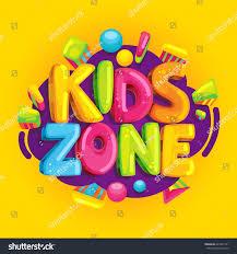 kids zone vector cartoon banner colorful stock vector 624447131