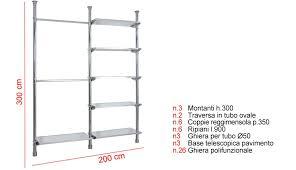 montante scaffale montanti per scaffali avec montante in lamiera asolata h 240