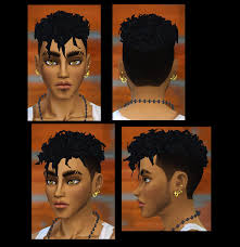 custom hair for sims 4 male curls for the sims 4 i made a version with my sims 4