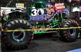 nitro circus monster truck just a car guy grave digger the metallic chome paint is killer