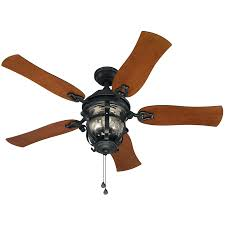 Lowes Outdoor Ceiling Fans With Lights Shop Harbor Lake Placido 52 In Black Iron Indoor Outdoor