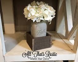 Rustic Mason Jar Centerpieces For Weddings by Rustic Decor Etsy