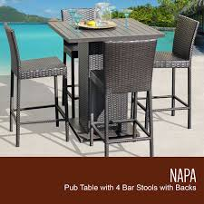 5 piece patio table and chairs napa pub table set with barstools 5 piece outdoor wicker patio furniture