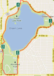 seattle map green lake what are routes in or around green lake seattle