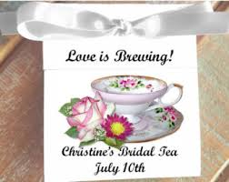 personalized tea bags viola personalized teacup tea bag party favors for bridal