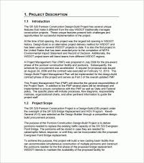 construction project plan template free project management