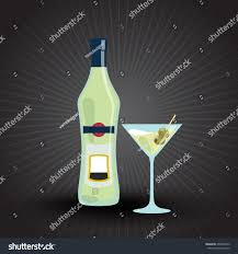martini bianco glass bottle martini glass martini stock vector 400035745 shutterstock