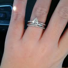engagement rings size 8 pear engagement rings 1 5 or 2 carat on size 8 finger