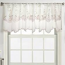 Curtains Valances Styles Amazon Com Battenburg Lace Kitchen Curtain Valance White By