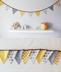 fanion chambre bébé guirlande de fanions pour décorer chambre bébé et enfant