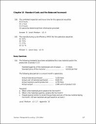 chapter 10 standard costs and the balanced scorecard 536 garrison
