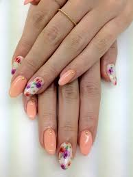 30 beautiful and unique nail art designs round nails peach and
