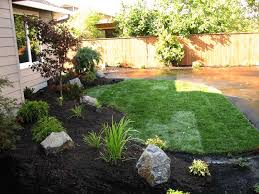 Landscaping Ideas For Large Backyards by Simple Backyard Landscape Ideas Home Decorating Ideas And Tips