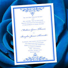 royal blue wedding invitations royal blue wedding invitation template editable microsoft