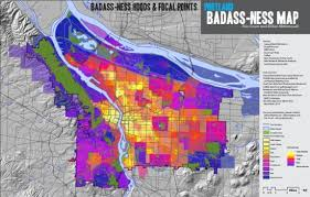 a map of portland oregon in portland badass is as the badass map says it is stumped in