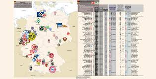 Kassel Germany Map by Map Of The Teams In Germany U0027s Top Three Domestic Leagues Oc Soccer