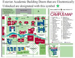 Oregon State Campus Map by Campus Safety Click Door Lock Policy Map Willamette University